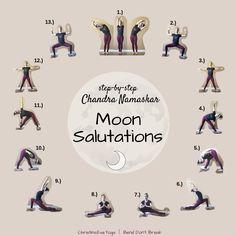 Your New Favorite Yoga Sequence: Moon Salutations My Yoga, Yoga Flow, Yoga Meditation, Manifestation Meditation, Yoga Routine, Yoga Sequences, Yoga Poses, Yin Yoga Sequence, Yoga Moon Salutation