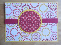 Wordless Red and Yellow Greeting Card - Handmade Greeting Card