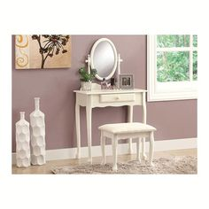 $160.02 + free delivery  2-Piece Vanity Set in Antique White | Nebraska Furniture Mart