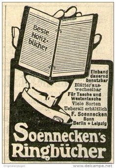 Original-Werbung/ Anzeige 1909 - SOENNECKEN'S RINGBÜCHER / BONN - ca. 45 X 65 mm