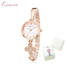 Kimio Luxusní značkové dámské hodinky Klíčový design náramek Hodiny Šaty  Quartz Dámské náramkové hodinky Montre Femme Dárky pro ženy f9faee057a