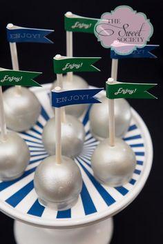 Cake pops at a Disco Party #disco #cakepops