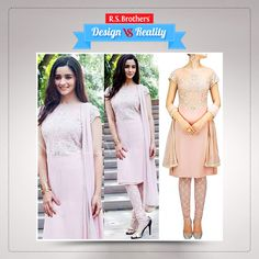 Bollywood sizzling actress #AliaBhatt looks like an elegant angel after wearing this light pink color #SalwarKameez set. The design adds more attraction to her natural look. (Image copyrights belong to their respective owners)