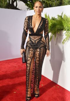 J.Lo steps out in her first Julien Macdonald dress for the night