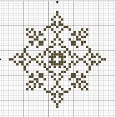 Pattern | snowflake cross stitch