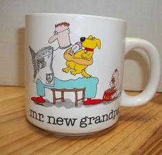 Mr. New Grandpa Coffee Mug Cup Jim Benton Papel Cute Cartoon Baby Dog