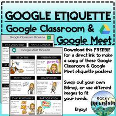 Classroom Expectations, Classroom Rules, Google Classroom, School Classroom, Pbis School, Online Classroom, Classroom Ideas, Teaching Technology, Teaching Biology