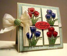 CC476 - TIPTOE THRU THE TULIPS by Karen B Barber - Cards and Paper Crafts at Splitcoaststampers