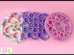 #Video, #DIY, #Crafts, #Design, #Recycle: #HowToMake trivets using old magazines