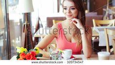 cafe sitting portrait - Google Search