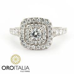 Anillo de diamantes en oro blanco.  Para precios llámanos al 303-6625(Obarrio) ref. 211524.   #oroitalia #joyería #oro #gold #joyeríaspanamá #jewelry #panama #diamonds #diamantes #anillodiamantes #diamondring