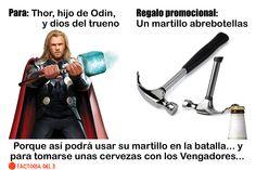¿Qué le regalarías al superhéroe Thor, dios del Trueno?