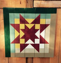 Barn Quilt, log cabin with an Ohio Star | Barn Quilts | Pinterest ... : barn quilts book - Adamdwight.com
