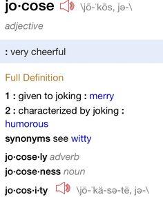 Jocosity
