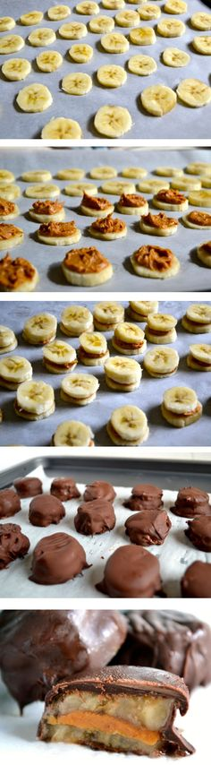 Quick and super easy to make Chocolate Covered Frozen Banana and PB Bites. @Not Enough Cinnamon