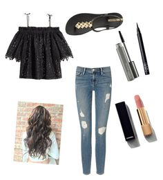 """""""Untitled #24"""" by e12345l on Polyvore featuring H&M, Frame Denim, Chanel, NARS Cosmetics, MAC Cosmetics and IPANEMA"""