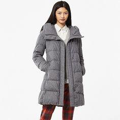 WOMEN Stretch Wool Blended Down Coat