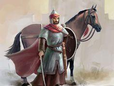 Desert Drawing, Persian Warrior, Arabian Knights, Warrior Costume, Islamic Posters, D D Characters, Knights Templar, Medieval Fantasy, Religious Art