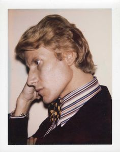 Warhol forged personal relationships with many fashion designers like Yves Saint Laurent (pictured), for whom he created the now famous paneled portrait in 1972 based off a series of Polaroids to be sold in the Christie's auction Ysl, Yves Saint Laurent, Andy Warhol, James Rosenquist, Monaco Princess, Polaroid Photos, Polaroids, Jean Michel Basquiat, Jasper Johns