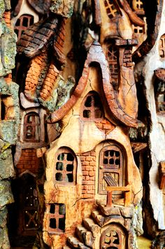 My uncle carves these amazing houses from bark.  This isn't one of his but they are amazing!  I just love them!