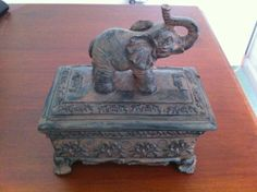Asian Elephant Jewelry Box Asian Decor Jewelry Holder Jewelry Organizer Jewlery India Accessory Box Storage Box Ring Box Jewelry Organizer on Etsy, $69.99
