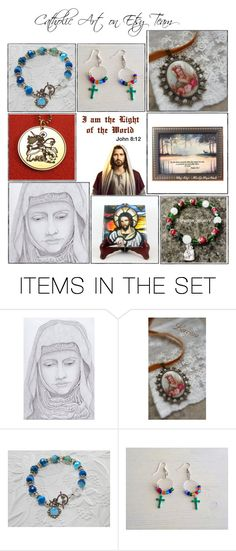 Religious Art on Etsy by TerryTiles2014 - Volume 202 by terrytiles2014 on Polyvore featuring arte, etsy, art, gifts, catholic and religious