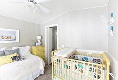 nursery! I have this crib need to repaint it, looks so cute here!