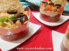 Caceroladas: Quesadilla en vaso (con nachos)