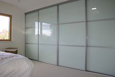 Softline Designer/ White Glass with Bars - wardrobe-works, Indoor Home Improvement, Modbury, SA, 5092 - TrueLocal