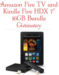 Amazon Fire TV and Kindle Fire HDX 7 16GB Bundle #Giveaway #jbbb
