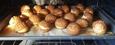 Cream puff with craquelin recipe! Alchemy, Muffin, Cream, Baking, Breakfast, Recipes, Food, Palm Oil, Veggies