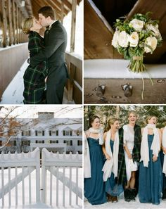 See all of the cozy winter details from this Vermont wedding celebration