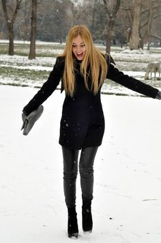 Image result for blonde pretty girl snow