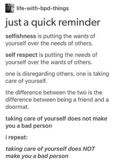 It's more so self care. Self respect is something subtly different, imo. The Words, Quotes To Live By, Me Quotes, Parenting Quotes, Parenting Tips, Life Advice, Narcissist Father, Narcissist Quotes, Self Improvement
