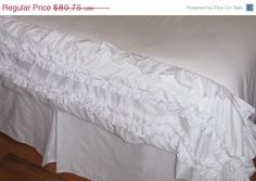 ONE WEEK ONLY Sale Twin Tulle Bedskirt in whitest by cosmofields