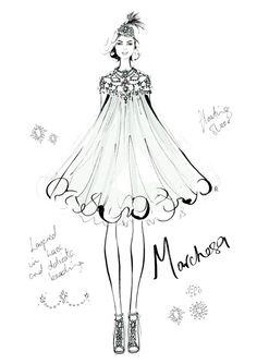 Megan Hess, The Dress - Marchesa $350