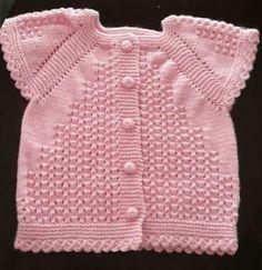 Baby Sweater Knitting Pattern, Crochet Poncho, Filet Crochet, Baby Knitting Patterns, Crochet Patterns, Half Sweater, Vintage Knitting, Baby Sweaters, Free Pattern