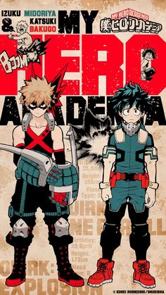 """The backgrounds of SHONEN JUMP's official Bakudeku mobile theme """"""""A wallpaper featuring Izuku & Bakugou's antagonistic and comical team-up! With their quirks combining to create eye-catching icons,. My Hero Academia Episodes, My Hero Academia Memes, Buko No Hero Academia, Hero Academia Characters, My Hero Academia Manga, Hero Wallpaper, Cute Anime Wallpaper, Watch Wallpaper, Locked Wallpaper"""
