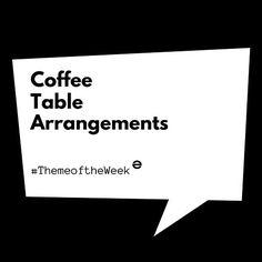 Did you guess right???  #themeoftheweek #MoodBoardMonday #coffeetable #TableArrangements