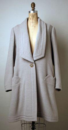Coat Emanuel Ungaro (French) ca. 1989 cashmere