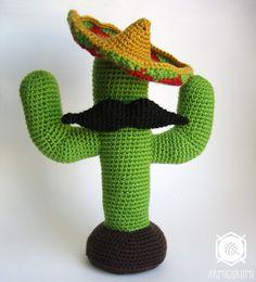 PDF Crochet Pattern - EN - Cactus Mexicain (Amigurumi au crochet)