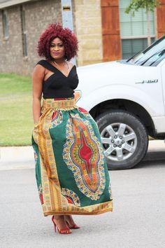 Mura Dashiki Maxi Skirt  #like4like #melanin #blackgirlskillingit #style #dashiki #picoftheday #ankarastyles #ootdmagazine #fashionaddicts #photooftheday