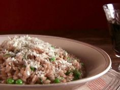 Get Mushroom Risotto with Peas Recipe from Food Network