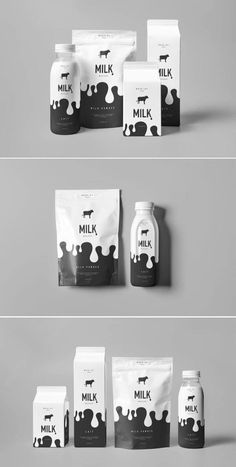 Ideas Dairy Products Packaging Ideas For 2019 Dairy Packaging, Honey Packaging, Beverage Packaging, Food Packaging, Brand Packaging, Packaging Ideas, Graphisches Design, Label Design, Food Design