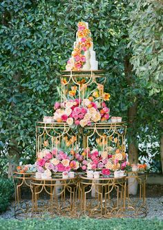 """Stunning cake display from """"Spring Bloom"""" Style Photo Shoot by Sonia Sharma Events & Celio's Design for Caroline Tran's """"Propel"""" Photography workshop 