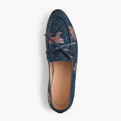 Academy Loafers in Tiger Print in Vivid Ink (J Crew)