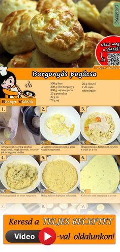 Hungarian Desserts, Hungarian Recipes, Good Food, Yummy Food, Savory Snacks, Homemade Cakes, No Cook Meals, Street Food, Cookie Recipes