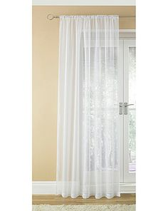For 3 rooms - Plain Dyed Voile Slot Top Panel | Home Essentials