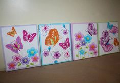 Set of 4 Delicious Butterfly Girls Bedroom 8x10 by ToadAndLily, $80.00