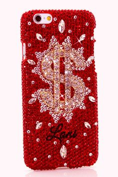 RATIONALLY RED W/ DOLLARS & SENSE design iPhone 6 6s Plus case phone cover cool for women